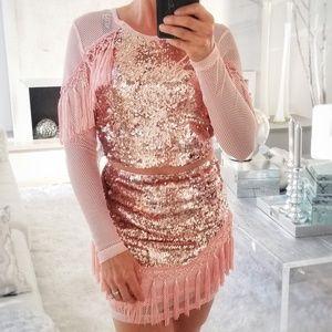 JASMINE Sequin & Tassel Set -Skirt / Top